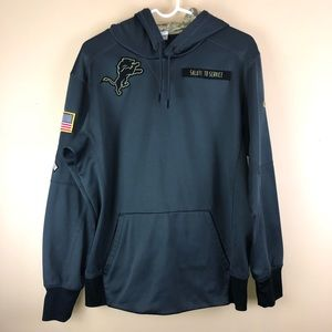 Detroit Lions Salute To Service Hoodie Therma Fit